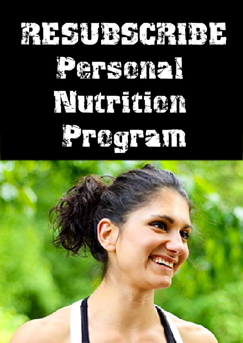 Resubscribe-Personal-Nutrition-Program