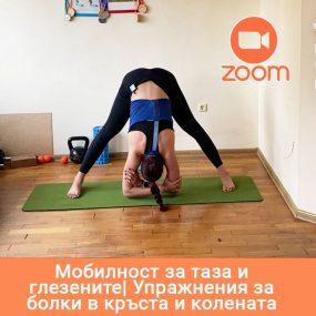 Мобилност за таза и глезените. Упражнения за болки в кръста и колената – Online в ZOOM – 04.12.2020