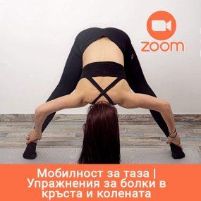 Мобилност за таза | Упражнения за болки в кръста и колената (Live in Zoom) | 20.11.2020