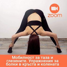 Мобилност за таза и глезените. Упражнения за болки в кръста и колената с Инес – 25.01.2021; 18:30 ч.– Online в Zoom